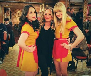 penny, kaley cuoco, and 2 broke girls image