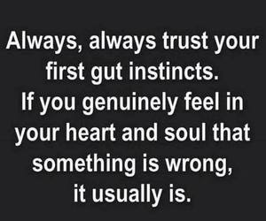 quote, trust, and heart image
