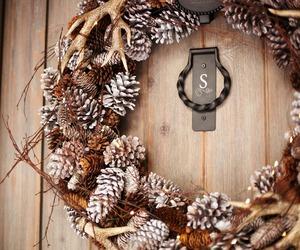 winter, door, and autumn image