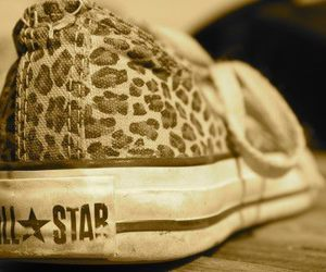 all star, converse, and leopard image