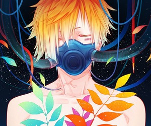 anime, boy, and colors image