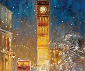 Big Ben, bus, and london image