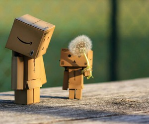 danbo and flowers image