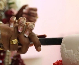 cake, indian, and wedding image