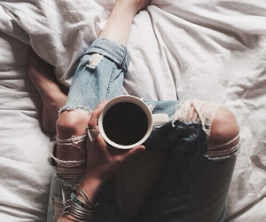 accesories, coffee, and pants image