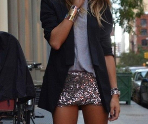 accessories, gold, and shorts image