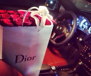 rose, car, and dior image