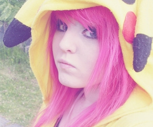 pikachu, pink hair, and cute image