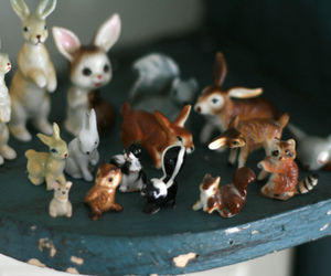 bunnies, porcelain, and retro image
