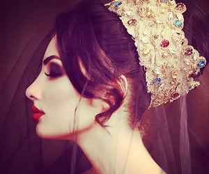 beauty, tiara, and brunette image