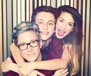 troye, zoella, and tyler oakley image