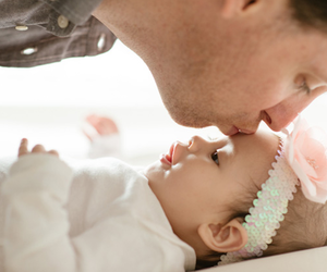baby, dad, and kid image