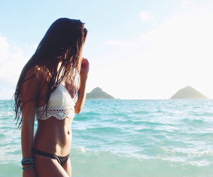 girl, beautiful, and summer image