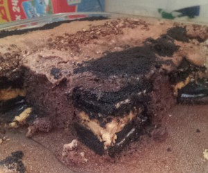 chocolate cake, peanut butter, and yummyyy image