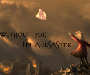 alone, disaster, and girl image