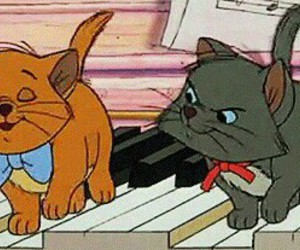 aristocats, chaton, and music image