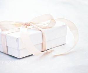 gift, white, and present image