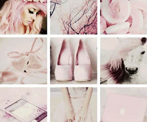 apple, pink, and dress image
