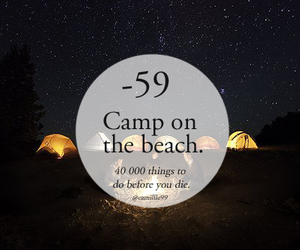 beach, camp, and night image