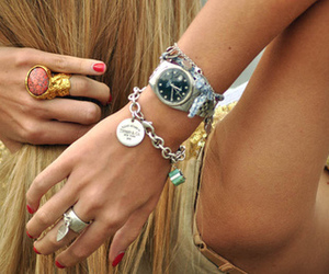 acessories, blonde, and fashion image
