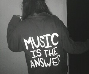 girl, music, and answer image
