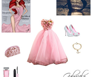 ariel, dress, and pink image
