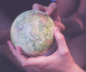 world, globe, and hands image