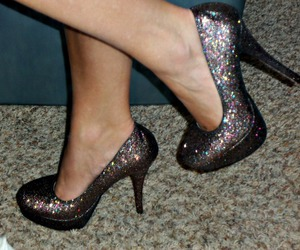glitter, shoes, and pumps image