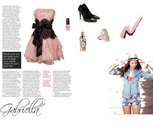 dress, pink, and Polyvore image