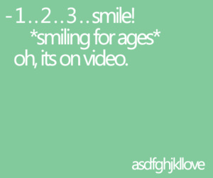 smile, text, and typography image