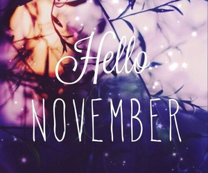 november, hello, and autumn image