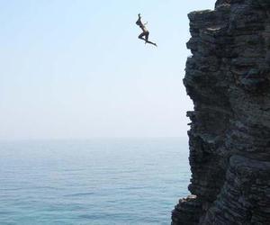 sea, jump, and summer image