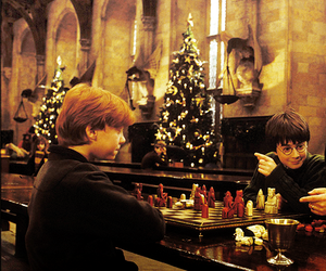 harry potter, christmas, and ron weasley image