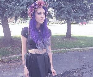 alternative, goth, and purple hair image