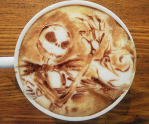 coffee, Halloween, and art image