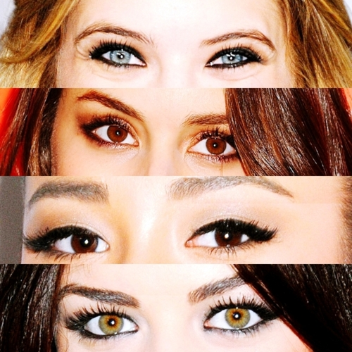 eyes, pretty little liars, and shay mitchell image