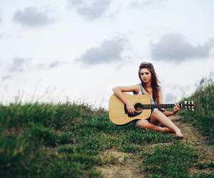 girl, guitar, and pretty image