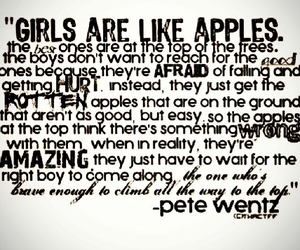 apple, girls, and quotes image