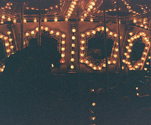 carousel, light, and faded image