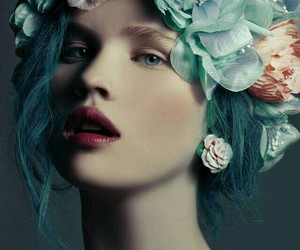 flowers and hair image