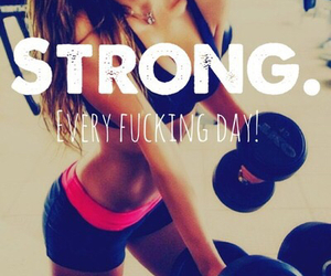 strong, fitness, and fit image