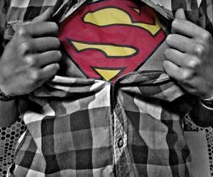 black&white, DC, and heros image