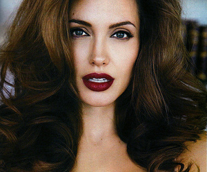 Angelina Jolie, sexy, and hair image