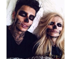 boy and girl, Halloween, and living dead image