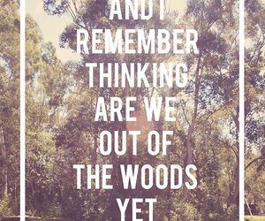 out of the woods, 1989, and Lyrics image