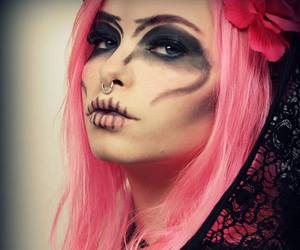 alt model, dyed hair, and pastel goth image