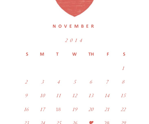 calendar, date, and hearts image
