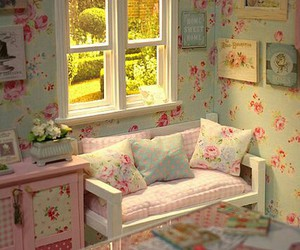 decor, cottage charm, and floral image