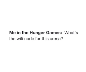 wifi, hunger games, and funny image