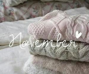 november, sweater, and autumn image